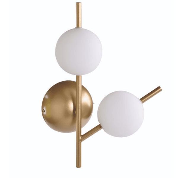 Arandela Neolus com Globo Branco e Metal Dourada New Line AR1459