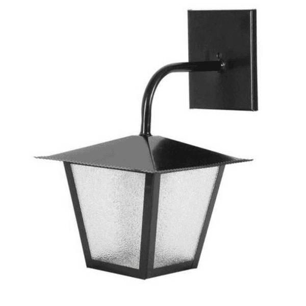 Arandela Quadrada Colonial Preta Ideal Iluminação L4B