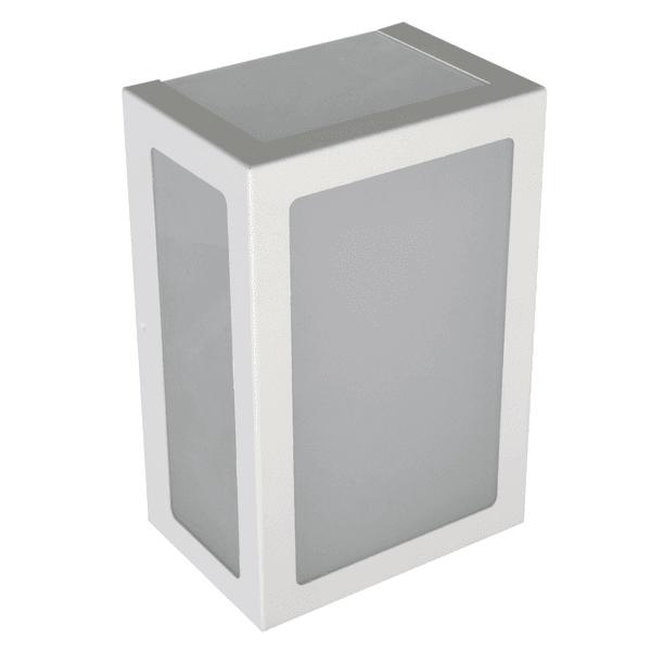 Arandela Retangular Branca 5 Vidros 20cm 6213
