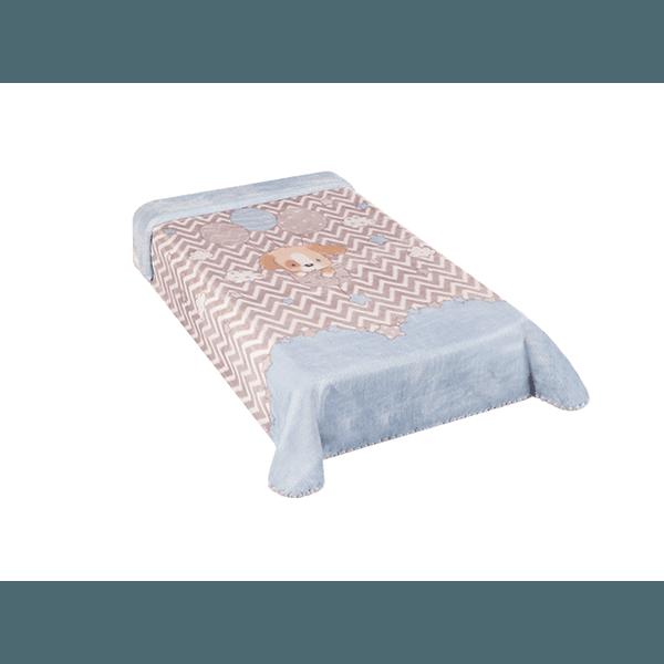 Cobertor Colibri Le Petit Cachorrinho Azul