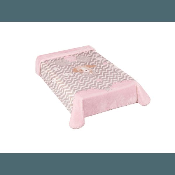Cobertor Colibri Le Petit Cachorrinho Rosa