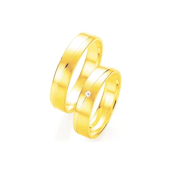 Par de Alianças de Casamento Minsk em Ouro 18k Com Diamante