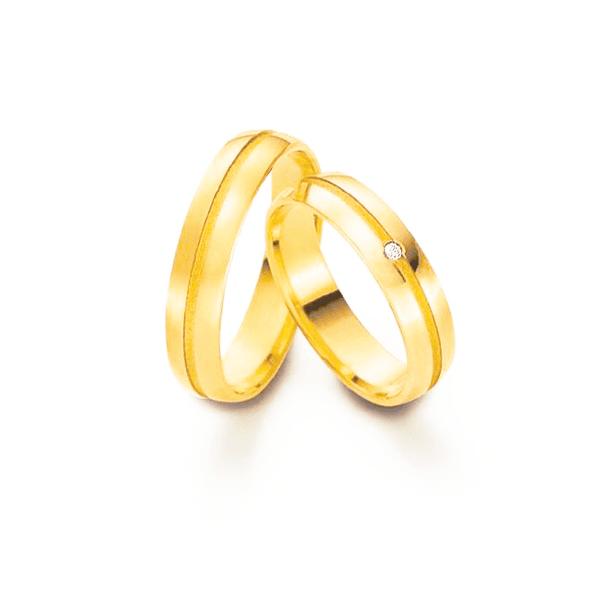 Par de Alianças de Casamento Viena em Ouro 18k Com Diamantes