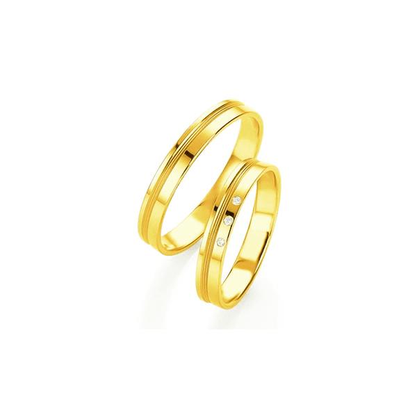 Par de Alianças de Casamento Niterói em Ouro 18k Com Diamantes