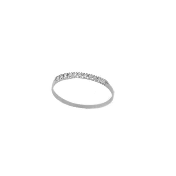Anel Feminino Aparador em Ouro Branco 18k com Diamantes