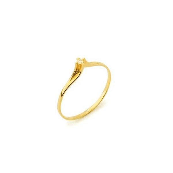Anel Solitário Paris em Ouro 18k Com Diamante