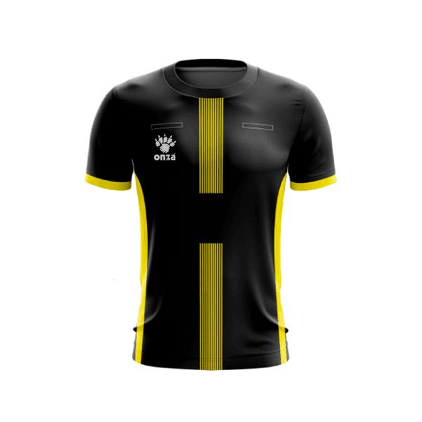 Camisa Arbitro Preto e Amarelo