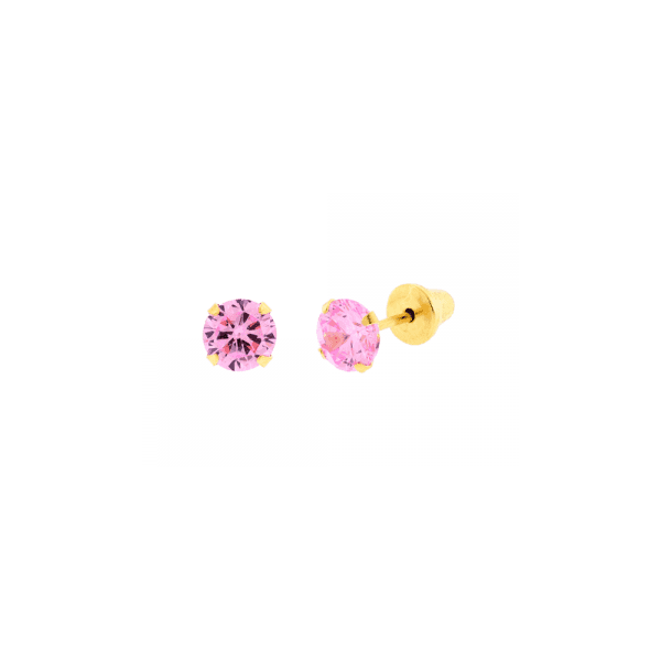 Brinco Solitário Zircônia 3,0 mm Ouro 18k