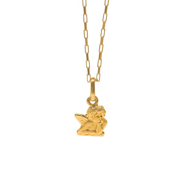 Corrente Cartier com Pingente de Anjo em Ouro 18K