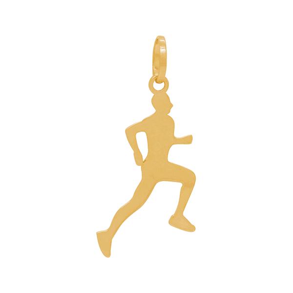 Pingente em Ouro Amarelo 18K Homem Atleta