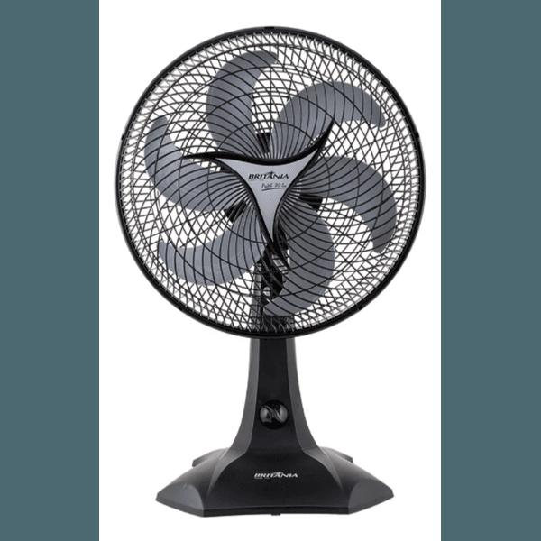 Ventilador De Mesa Britânia Protect 30 Six Preto Com 6 Pás, 30 cm De Diâmetro 127 v