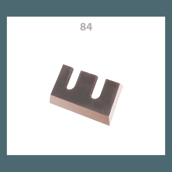 Jogo de Facas para Respigadeiras Invicta 120x75x9 Em aço - 2 peças (par)