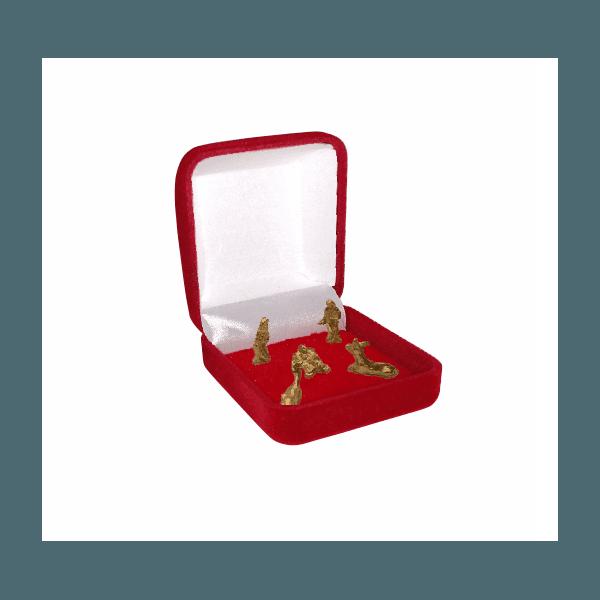 Mini Presépio Quadrado Caixa Veludo