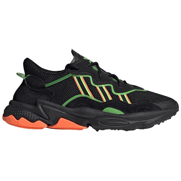 Tênis Adidas Ozweego Black Green Orange