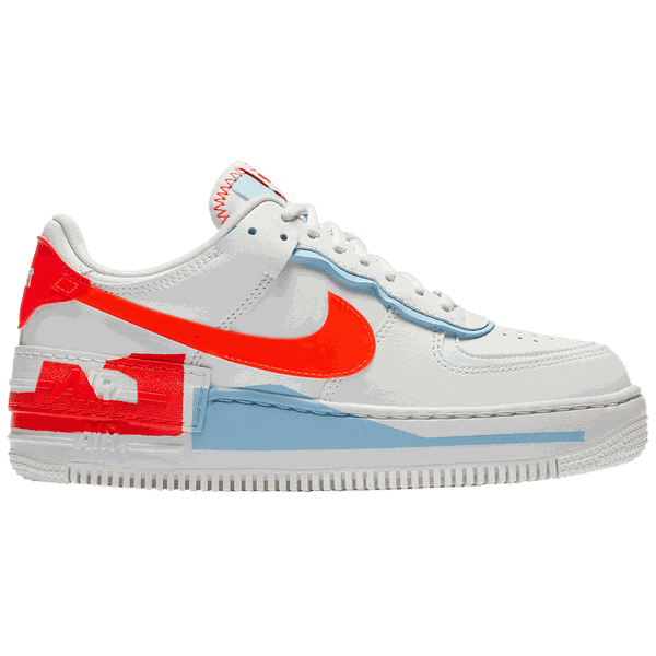 Tênis Nike Air Force 1 Shadow Team Orange Blue