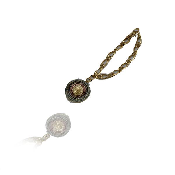 Pulseira Mandala Semijoia Banho De Ouro 18k Zircônias Coloridas