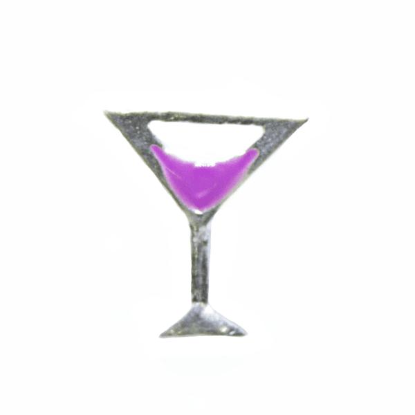 Pingente Taça Drink Memories Prata 925 Esmaltado Cápsula