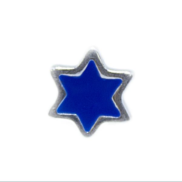 Pingente Estrela Azul Memories Prata 925 Esmaltado Cápsula