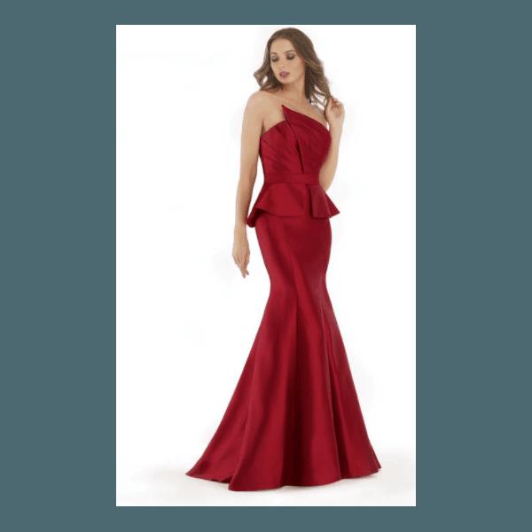 Vestido Zibeline Marsala