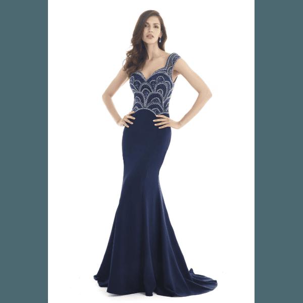 Vestido Bordado Parte de Cima Azul