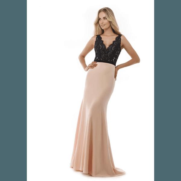 Vestido Sereia Rose Com Preto