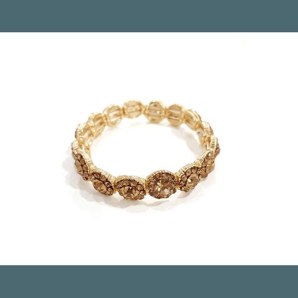 Bracelete fino com pedras douradas 13584