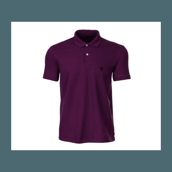 Camisa Polo Masculina Made In Mato Roxa