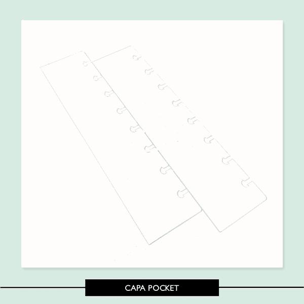 Capa Pocket - Caderno discos