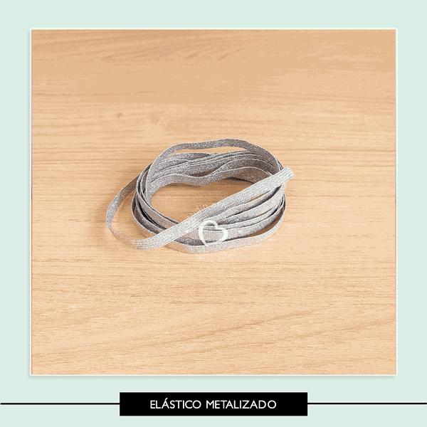 Elástico Chato Metalizado - 7 mm