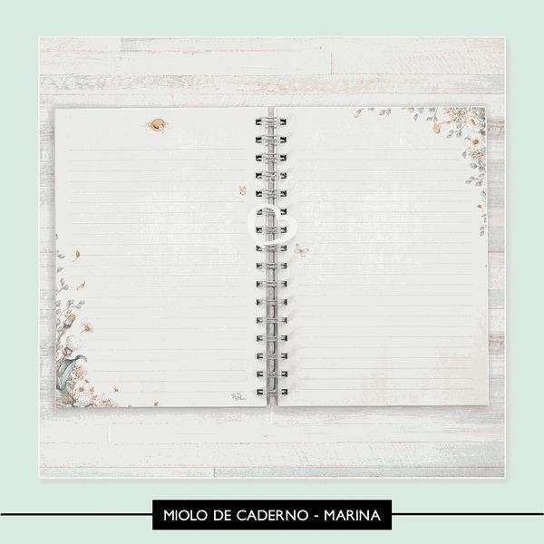 Miolo para Caderno - Marina