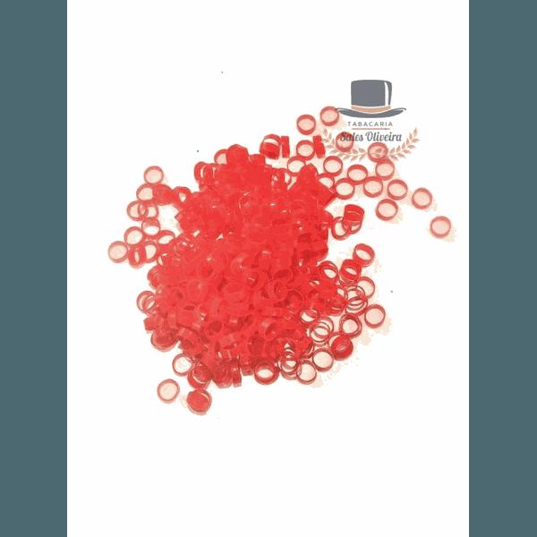 Argolinhas, Gominhas ou Canudinhos para Cigarro de Palha - 5,5mm - Vermelho