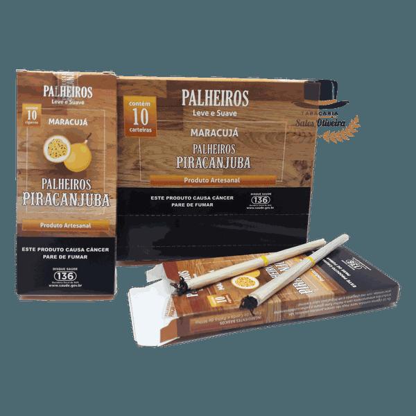 Palheiros Piracanjuba Maracujá - Display com 10 maços de 10 cigarros