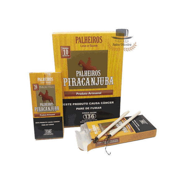 Palheiros Piracanjuba Série Ouro - Display com 10 maços de 20 cigarros