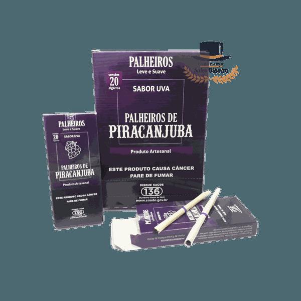 Palheiros Piracanjuba Uva - Display com 10 maços de 20 cigarros