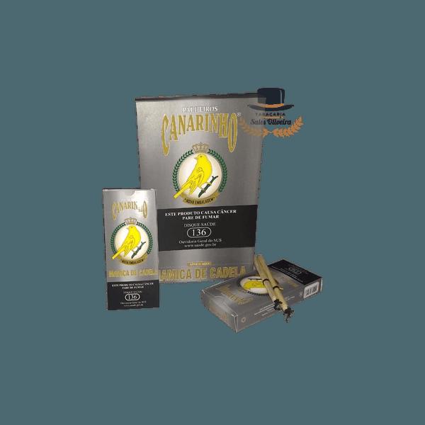Palheiros Canarinho Mamica de Cadela - Display com 10 maços de 20 cigarros
