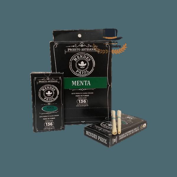 Palheiros Mendes Paiol MENTA- Display com 10 maços de 18 cigarros