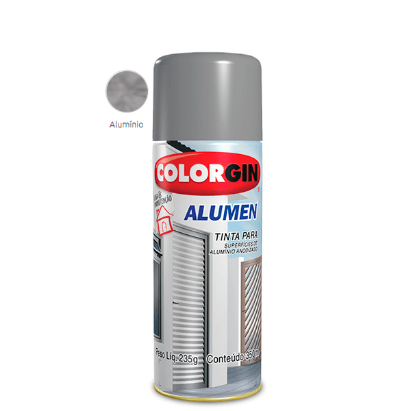 SPRAY ALUMEN ALUMÍNIO 350ML COLORGIN