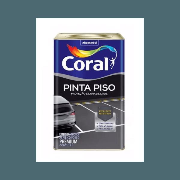 TINTA ACRÍLICA PRETO PINTA PISO 18L CORAL