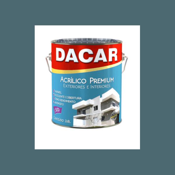 TINTA ACRÍLICA FOSCO BRANCO NEVE PREMIUM 3,6L DACAR