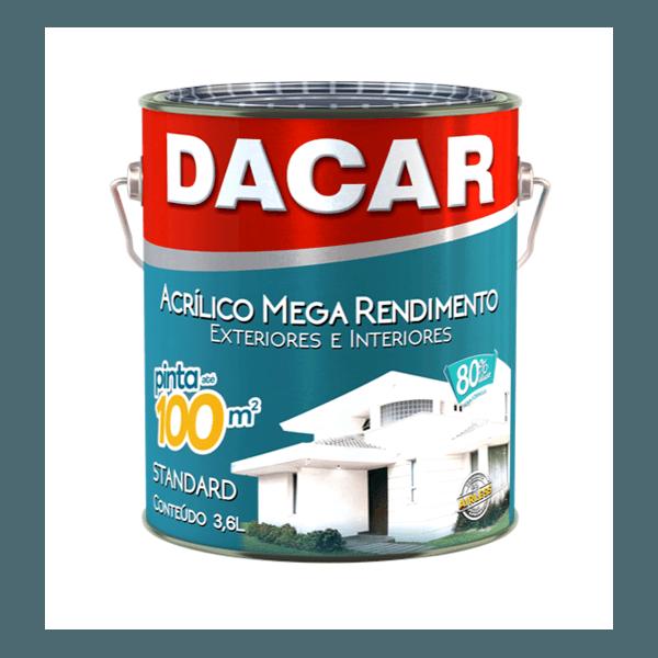 TINTA ACRÍLICA FOSCO BRANCO NEVE MEGA 3,6L DACAR
