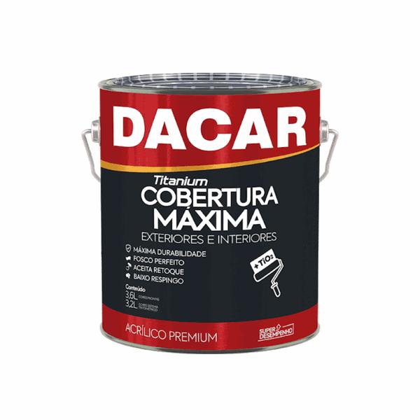 TINTA ACRÍLICA FOSCO BRANCO NEVE TITANIUM PREMIUM 3,6L DACAR