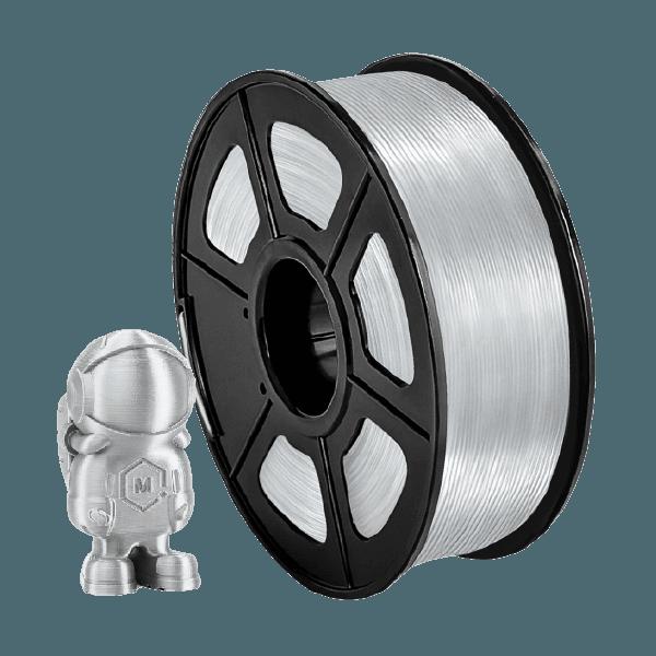 Filamento Pla+ Silk 1.75mm 1Kg - Silver