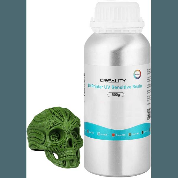Resina UV Calcinável Joalheria Creality - Impressoras 3D LCD/DLP - 405nm - Verde -500g