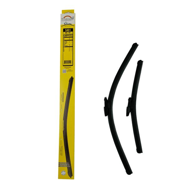 Palhetas Limpador Parabrisa 14/26 Polegadas Slim Blade Dyna-S401 (Confira a Compatividade nos Detalhes do Produto)