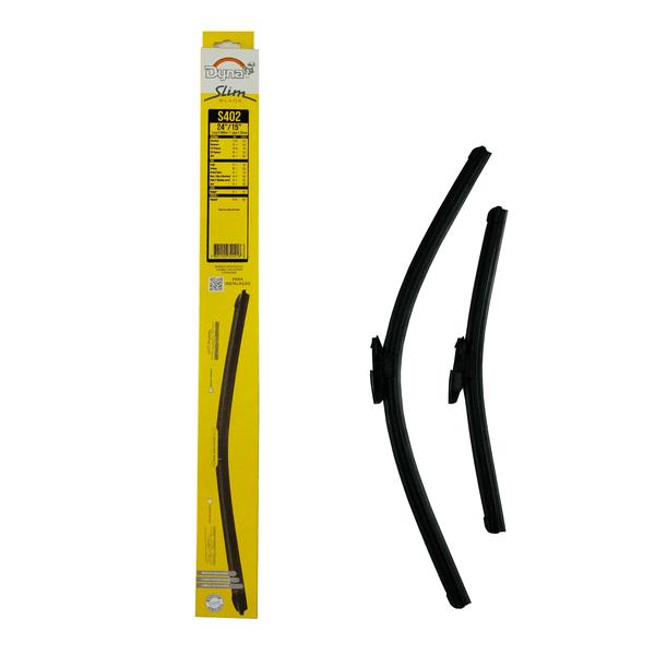 Palheta Limpador Parabrisa Slim Blade Par 15/24 Polegadas (Consulte Compatibilidade nos Detalhes do Produto)