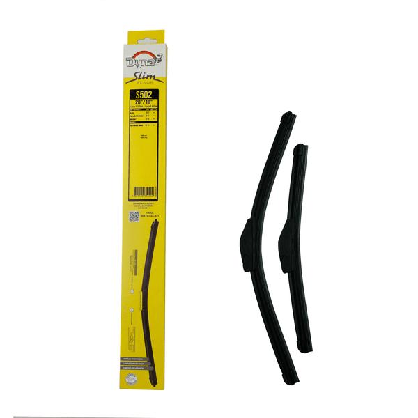 Palheta Limapdor Parabrisa Slim Blade 18/20 Polegadas Dyna-S502 (Confira Compatibilidade nos Detalhes do Produto)