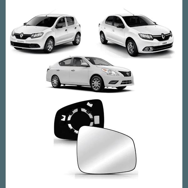 Lente Para Retrovisor Renault Logan/Sandero de 2015 á 2019 e Versa de 2017 á 2019