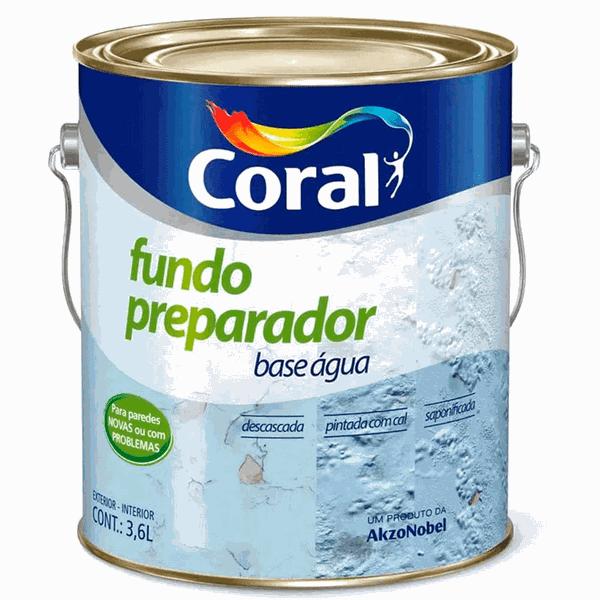 FUNDO PREPARADOR DE PAREDE CORAL 3,5L