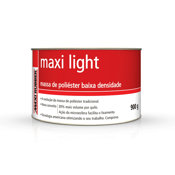 COMBO MASSA POLIESTER MAXI-LIGHT C/12 UND 900 GRS MAXI RUBBER