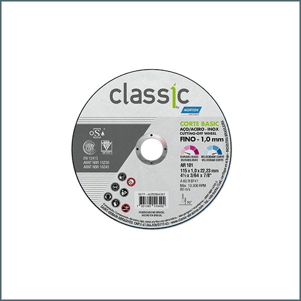 DISCO DE CORTE CLASSIC BASIC 180x22.23 MM NORTON